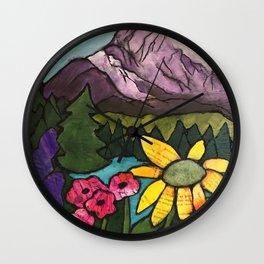 Grateful Mountains Wall Clock