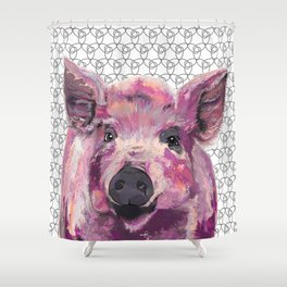Precious Pig Shower Curtain