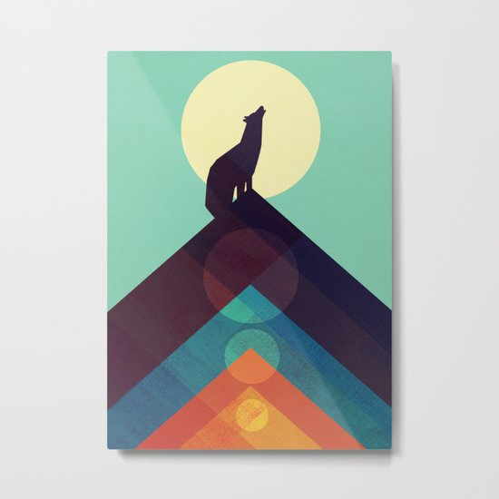 Howling Wild Wolf Metal Print