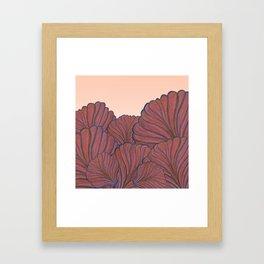 Australica Coral Shell Love Framed Art Print
