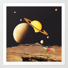 Western Space Art Print