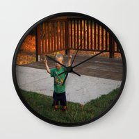 ace Wall Clocks featuring Ace by Samual Lewis Davis BMmSt CQU