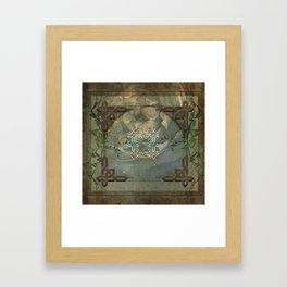 Wonderful decorative celtic knot Framed Art Print
