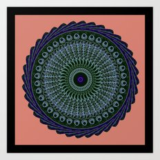 Radio Swirl Tile Art Print