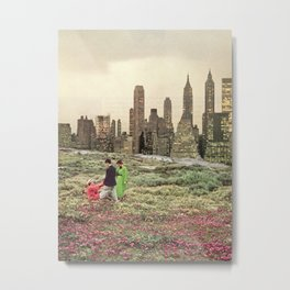 No city should be too large for a man to walk out of in the morning Metal Print
