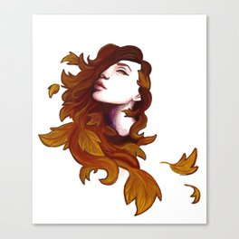 Autumnal Witch Canvas Print