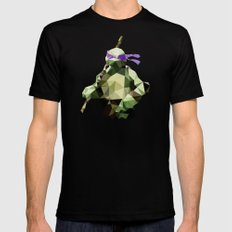 Polygon Heroes - Donatello Mens Fitted Tee LARGE Black