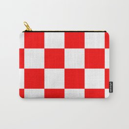 Large Checkered - White and Red Carry-All Pouch
