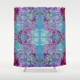 Purple Watercolor Tapestry Shower Curtain
