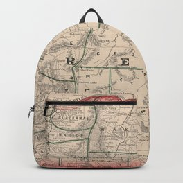 Vintage Map of Oregon (1883) Backpack