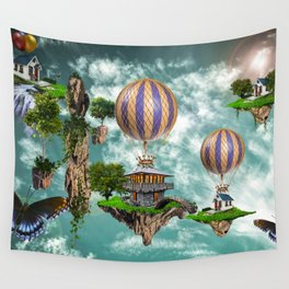 Balloon House Wall Tapestry