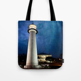 Lighthouse Blues Tote Bag