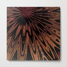 Native Tapestry in Burnt Umber Metal Print