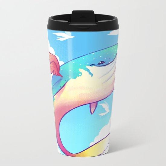 The Sky Whale Metal Travel Mug