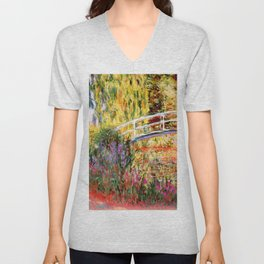 "Claude Monet ""Water lily pond, water irises"" Unisex V-Neck"