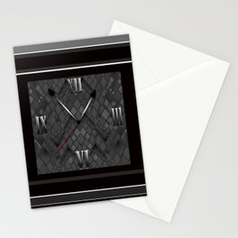 Watch. Black and white pattern . Stationery Cards