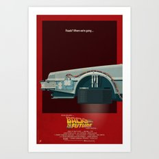 DeLorean Time Machine, Back to the Future Version 3 I/III Art Print