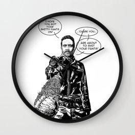 Negan Lucille Shitty Pants  - Pop Culture Wall Clock