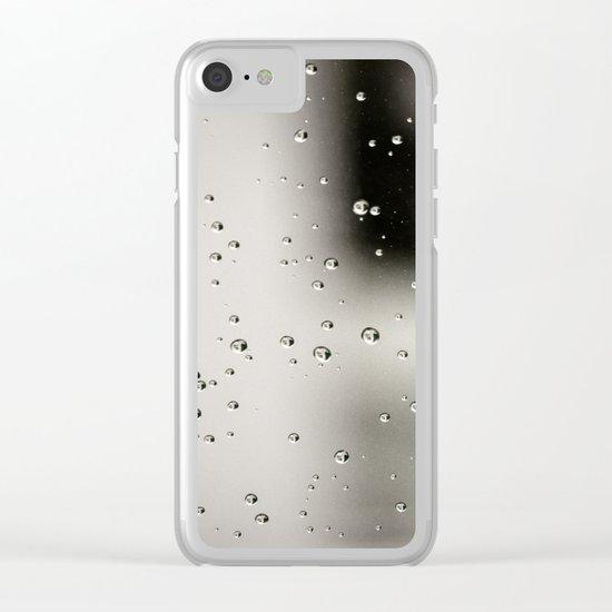 Rain bulles Clear iPhone Case