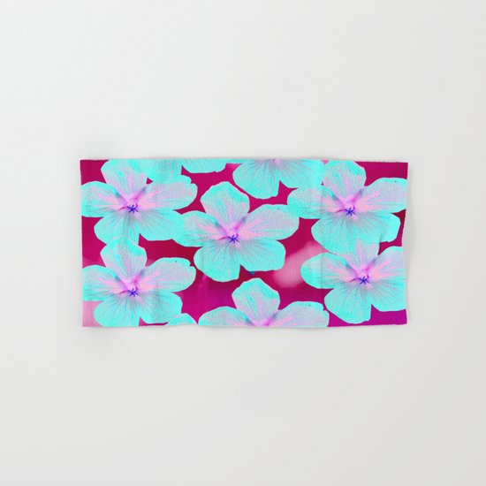 Turquoise Retro Flowers On Pink Background #decor #society6 #buyart by pivivikstrm