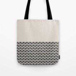 Triangles half Pattern (Black, Cream) Tote Bag