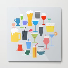 Time to Drink Metal Print