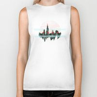 chicago Biker Tanks featuring Chicago by black out ronin
