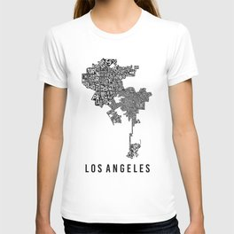 Los Angeles Typographic Map T-shirt