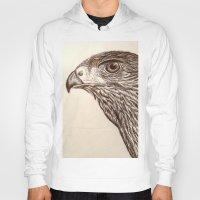 hawk Hoodies featuring Hawk by Leslie Creveling
