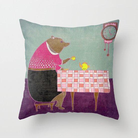 Afternoon tea Throw Pillow