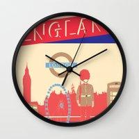 london Wall Clocks featuring LONDON by famenxt