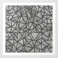 Ab Marb Grey 2 Art Print