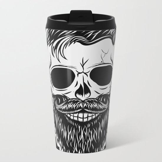 BLACK SKULL Metal Travel Mug