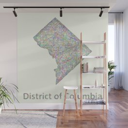 DC map Wall Mural
