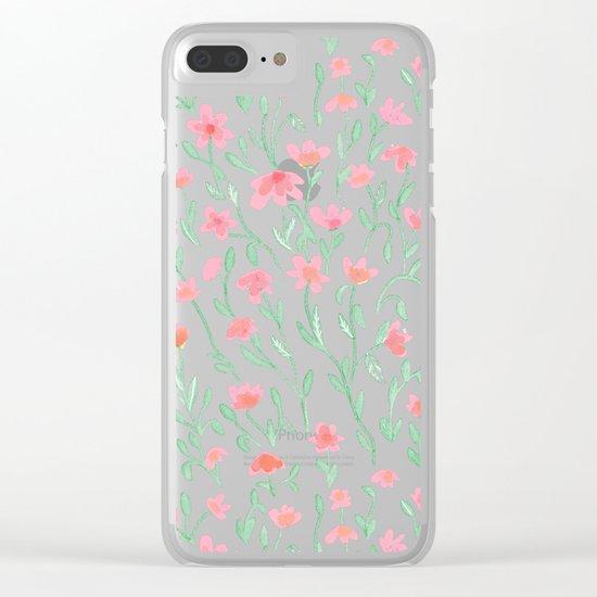 Rose Green Garden Clear iPhone Case