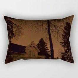 Shadowy house Rectangular Pillow
