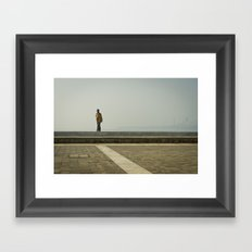 Walk along the Sea Framed Art Print
