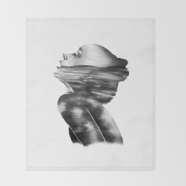 Dissolve // Illustration Throw Blanket