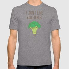 Broccoli don't like you either X-LARGE Tri-Grey Mens Fitted Tee