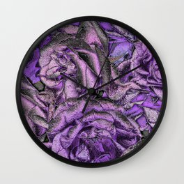 Great Garden Roses with silver dust Wall Clock