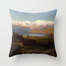 View In The Sierra Nevadas 1869 By Thomas Hill   Reproduction Throw Pillow