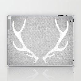 White & Grey Antlers Laptop & iPad Skin