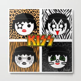 KISS MOBIL / Dynasty - Metal - Creatures of the night - Digital Ilustration - pop art Metal Print