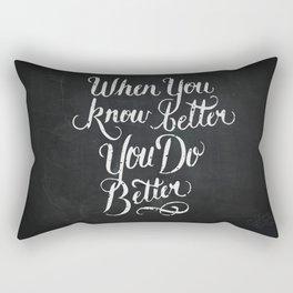 Know Better Rectangular Pillow
