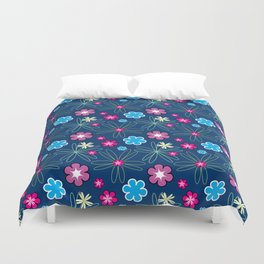 Multifloral Pattern Duvet Cover