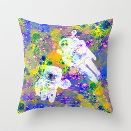 Psychedelic Space Throw Pillow