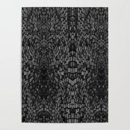 Shades of grey glasslite brick Poster