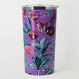 Romantic Floral Pattern Travel Mug