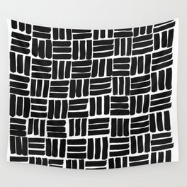 Mono squares Wall Tapestry
