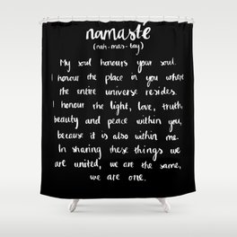 Namasté (dark) Shower Curtain